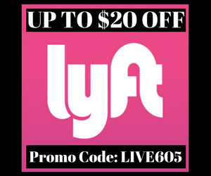 Lyft $20 Off CodeL LIVE605